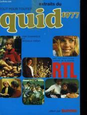 Extraits Du Quid 1977. Tout Pour Toutes. - Couverture - Format classique