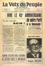 Voix Du Peuple De Touraine (La) N°1283 du 27/02/1966 - Couverture - Format classique