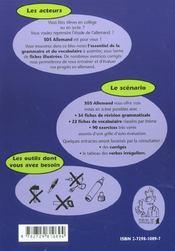 Sos Allemand Niveau 1 Revision Systematique De La Grammaire Et Du Vocabulaire - 4ème de couverture - Format classique