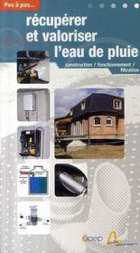 Récupérer et valoriser l'eau de pluie - Intérieur - Format classique