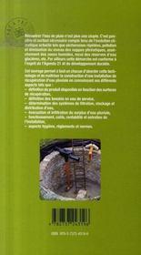 Récupérer et valoriser l'eau de pluie - 4ème de couverture - Format classique