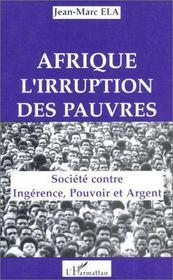 Afrique : l'irruption des pauvres - Intérieur - Format classique