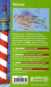 Geoguide ; Venise (Edition 2007-2008) - 4ème de couverture - Format classique