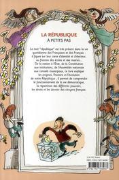 A Petits Pas ; La République - 4ème de couverture - Format classique