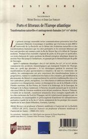 Ports et littoraux de l'europe atlantique ; transformations naturelles et aménagements humains - 4ème de couverture - Format classique