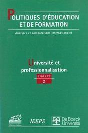 Politiques D'Education Et De Formation 2001/2 - Intérieur - Format classique