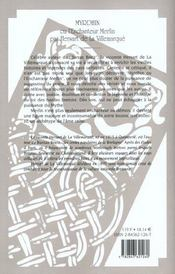 Myrdhin ou l'enchanteur merlin - 4ème de couverture - Format classique
