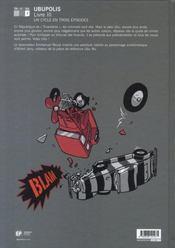 Ubu roi t.3 ; ubupolis - 4ème de couverture - Format classique