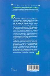 Travail Social Et Droits De L'Enfant - 4ème de couverture - Format classique
