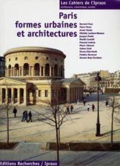 Paris Formes Urbaines Et Architectures, Cahier De L'Ipraus N 1 - Couverture - Format classique