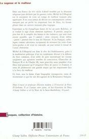 La Sagesse Et Le Malheur - 4ème de couverture - Format classique