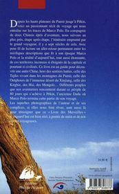Sur les pas de marco polo - 4ème de couverture - Format classique