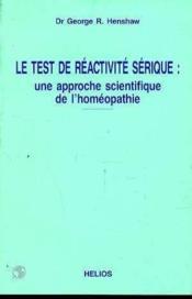 Test de reactivite serique - Couverture - Format classique