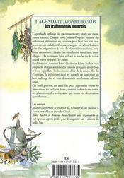 L'agenda du jardinier bio et son calendrier lunaire (édition 2008) - 4ème de couverture - Format classique