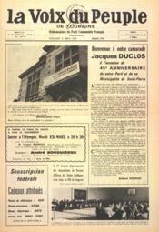 Voix Du Peuple De Touraine (La) N°1284 du 06/03/1966 - Couverture - Format classique