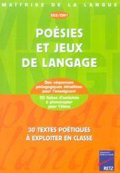 Poésies et jeux de langage ; CE2, CM1 - Intérieur - Format classique