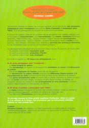 Poésies et jeux de langage ; CE2, CM1 - 4ème de couverture - Format classique