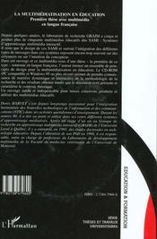 La multimediatisation en éducation ; première thèse avec multimedia en langue française - 4ème de couverture - Format classique
