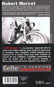 Le Celte.. 20. L'or rouge - 4ème de couverture - Format classique