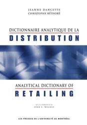 Dictionnaire analytique de la distribution - Couverture - Format classique