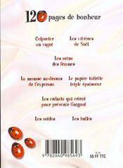 120 Pages De Bonheur - 4ème de couverture - Format classique