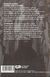 Lazare Dine A Luynes - 4ème de couverture - Format classique