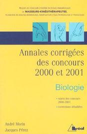 Prepa. kine.-biologie 2001 - Intérieur - Format classique