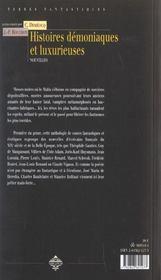 Histoires demoniaques et luxurieuses - 4ème de couverture - Format classique