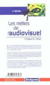 Les metiers de l'audiovisuel - 4ème de couverture - Format classique