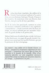 Recits Des Tranchees - 4ème de couverture - Format classique
