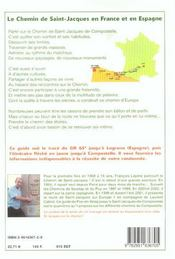 Sur le chemin de Saint-Jacques-de-Compostelle ; le Puy en Velay ; Saint-Jacques-de-Compostelle - 4ème de couverture - Format classique