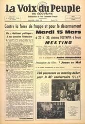 Voix Du Peuple De Touraine (La) N°1285 du 13/03/1966 - Couverture - Format classique