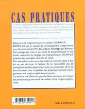 Initiation A Delphi 6.0 - 4ème de couverture - Format classique