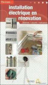 Installation électrique en rénovation - Couverture - Format classique