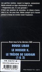 SAS t.54 ; voir Malte et mourir - 4ème de couverture - Format classique
