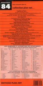 Departement N 84 - 4ème de couverture - Format classique