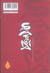 Satsuma, l'honneur des samourai t.6 - 4ème de couverture - Format classique