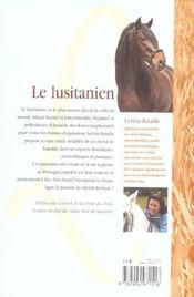Le Lusitanien - 4ème de couverture - Format classique