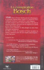 La conspiration bosch - 4ème de couverture - Format classique