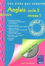 Anglais ; cycle 3, niveau 1 - Intérieur - Format classique