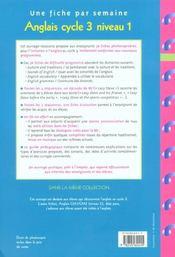 Anglais ; cycle 3, niveau 1 - 4ème de couverture - Format classique