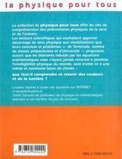 Couleurs Et Lumiere - 4ème de couverture - Format classique