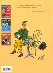 Monsieur jean t.3 ; les femmes et les enfants d'abord - 4ème de couverture - Format classique