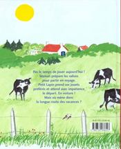 Voyage De Petit Lapin (Le) - 4ème de couverture - Format classique