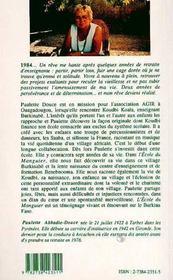 L'Ecole Du Manguier - 4ème de couverture - Format classique