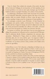 Pelerin D'Errance - 4ème de couverture - Format classique