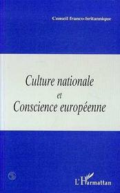 Culture Nationale Et Conscience Europenne - Intérieur - Format classique