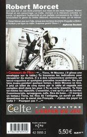 Le Celte.. 21. Casseurs de flics - 4ème de couverture - Format classique