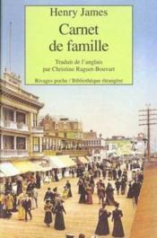 Carnet de famille - Couverture - Format classique