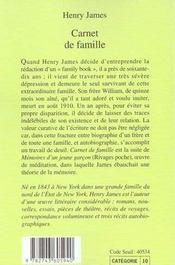 Carnet de famille - 4ème de couverture - Format classique